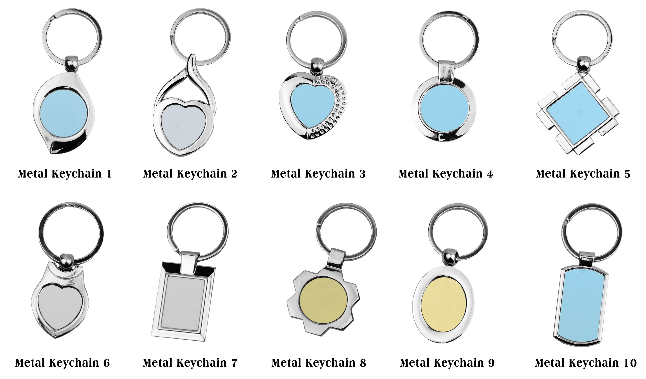 Metal Key Chain Printing Various Keychain Designs In
