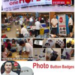 Instant Button Badge Printing For Blood Donation Campaign