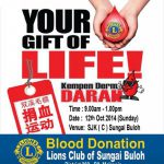 Sponsored Button Badge for Blood Donation Campaign of Lions Club of Sungai Buloh